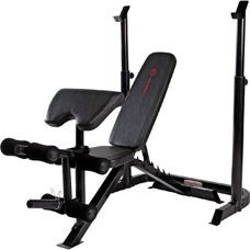 Marcy Mid Width Barbell Bench Schwarz
