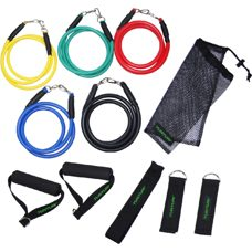 Tunturi Multifunktionales Widerstandsbänder Set - Resistance Band Set Mixed